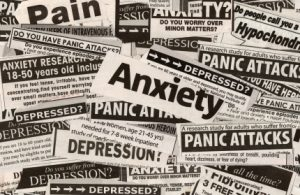 anxiety newspaper clippings