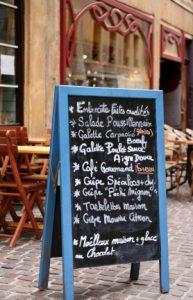 menu board in blue