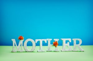 mother word with flowers