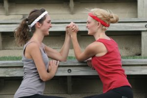 Arm Wrestling Sisters